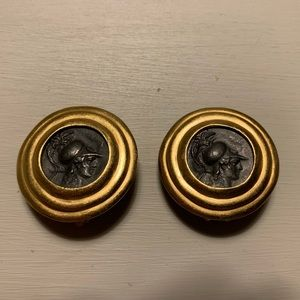 Vintage Carolee Roman Soldier Clip On Earrings